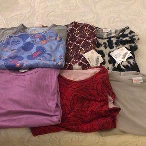 6 Lularoe shirts